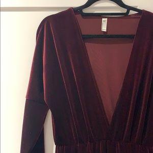 American Apparel Other - Red Velvet Jumpsuit